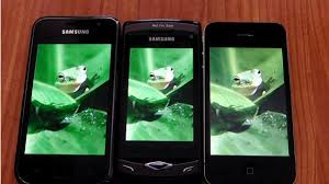 parison of iPhone 4 vs Samsung Wave and Samsung Galaxy S