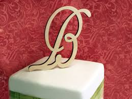 Wood Cake Topper Font Cancellaresca Script Ct