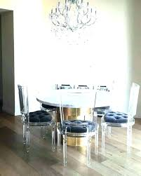 Acrylic Round Table Dining Fantastic Clear Room New Trends Lamp Modern
