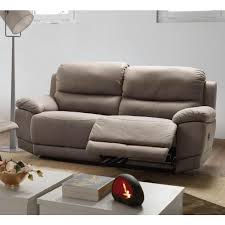 canapé 3 places relax electrique canapé 3 places avec 2 relax électrique tissu nobuck jersey