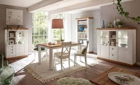 landhaus esszimmer set 352cm pinie weiß wotan eiche esstisch highboard