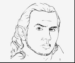 Marvelous Wwe Jeff Hardy Coloring Pages With And Free Printable
