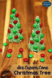 Ice Cream Cone Christmas Tree Snacks For Kids