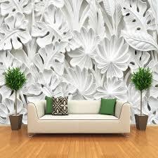3d stereoskopischen blatt muster gips relief wandbild wand papier wohnzimmer tv hintergrund wand malerei tapete hause dekoration