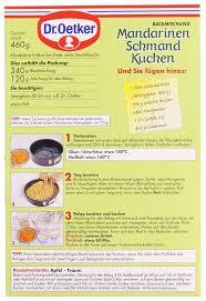 dr oetker landgenuss mandarinen schmand kuchen 460g