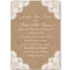 Printable Rustic Burlap And Lace Wedding Invitations EWI244