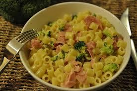 recette pâtes aux brocolis et jambon