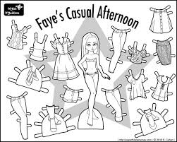 This Mix And Match Contemporary Paper Doll Coloring Sheet Is Fun Fashionable She Can Share Clothing With Dozens Of Other Dolls On My Site