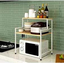 de holz mikrowellen regal küche küche regal metall