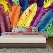 nach wandbild tapete moderne bunte feder 3d poster wand kunst wand malerei wohnzimmer schlafzimmer wohnkultur foto tapete