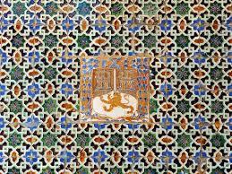 glazed tiles azulejos palace of casa de pilatos seville spain