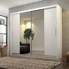 mirjan24 schlafzimmerschrank kola iv 180 schiebetürenschrank mit spiegel praktische garderobenschrank ohne beleuchtung farbe weiß