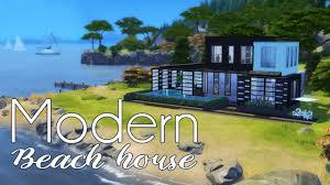100 Modern Beach Home MODERN House Sims 4 Speed Build PenappleYT YouTube