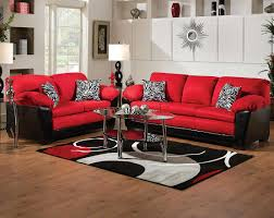 The Implosion Red Sofa And Loveseat Set Is In Your Face Bold Bright