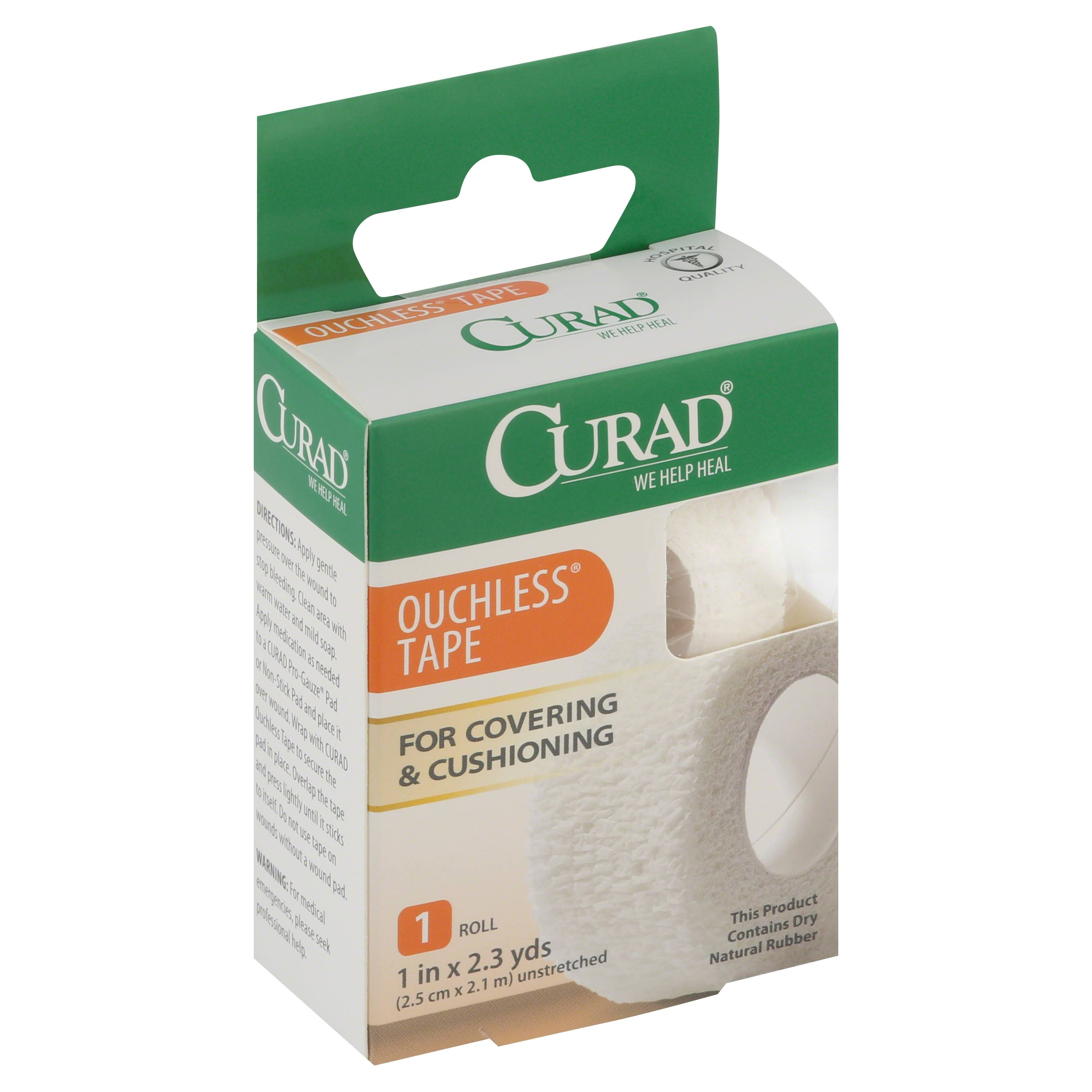 "Curad Tape Ouchless - 1"" X 2.3yds"