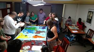 The First Official Meeting Of History Forum Was A Success Everyone Had Fun Playing Giant RISK Board
