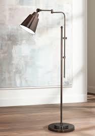 Alton Bronze Torchiere Floor Lamp by Floor Reading Lamps Interesting Floor Reading Lamp With Dimmer