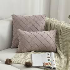 nordic stil plaid muster wildleder stoff sofa kissen hause sofa kissen fall wohnzimmer schlafzimmer kissen abdeckung home dekorative