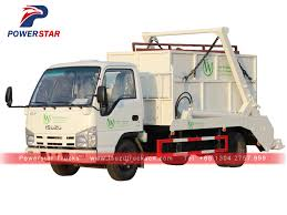 100 Garbage Truck Manufacturers Hot Selling 56cbm Skip Loader Isuzu Swing Arm In