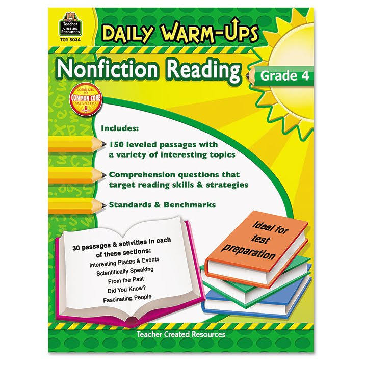 Daily Warm Ups Grade 4 Nonfiction Reading - Teacher Created Resources