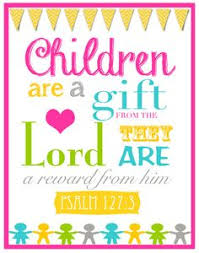 Children Are A Gift From God Bible Verse Wall Art By BoshaCards 650