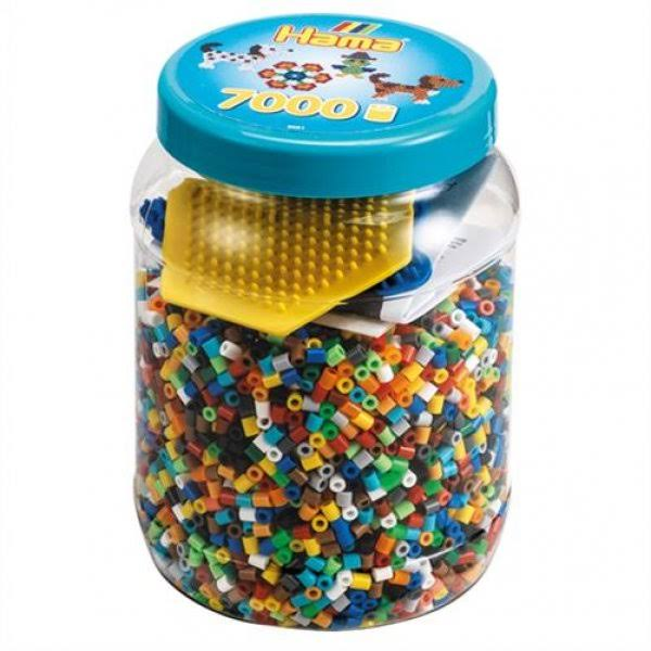 Hama Beads and Pegboards In Tub - Blue, 7000pcs