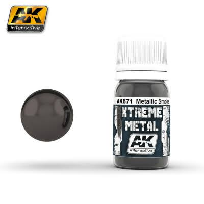 AK Interactive Xtreme Metal Smoke Metallic Paint 30ml Bottle