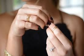 Emily Schuman Cupcakes And Cashmere Of In Her Catbird Pinky Ring Separated First Knuckle Stack