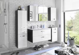 badezimmer komplett set manhatten 5 tlg weiß anthrazit