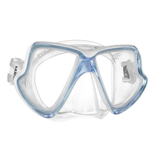 Mares X Vision Scuba Diving and Snorkeling Mid Mask - Ice Blue