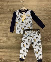 100 Monster Truck Pajamas Esme Boys VNeck S Long Sleeve 2pc Pajama Set