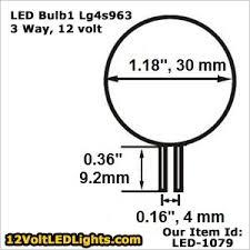 led 1079 lg4s963ww 3 way 12 volt led bulb g4 led bi pin side