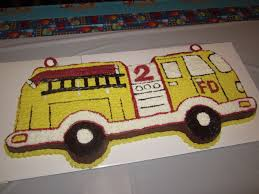 Firetruck Birthday Cake. I Have This Cake Pan! But