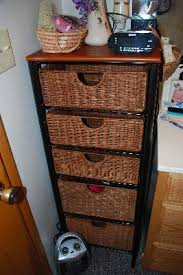 3 Drawer Wicker Chest Walmart by Southern Enterprises Iron And Wicker Five Drawer Unit Walmart Com