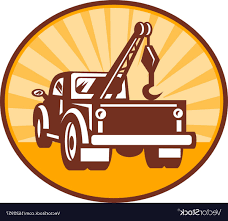 100 Tow Truck Vector Rear View Of A Or Wrecker LaztTweet