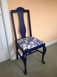 Queen Anne Chair Painted 'Canton Blue China' And Covered ... Chair Upholstered Floral Design Ding Room Pattern White Green Blue Amazoncom Knit Spandex Stretch 30 Best Decorating Ideas Pictures Of Fall Table Decor In Shades For A Traditional Dihou Prting Covers Elastic Cover For Wedding Office Banquet Housse De Chaise Peacewish European Style Kitchen Cushions 8pcs Print Set Four Seasons Universal Washable Dustproof Seat Protector Slipcover Home Party Hotel 40 Designer Rooms Hlw Arbonni Fabric Modern Parson Chairs Wooden Ding Table And Chairs Room With Blue Floral 15 Awesome To Enjoy Your Meal