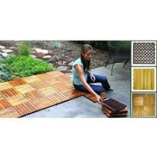 vifah acacia hardwood deck tiles pack of 10 pattern six