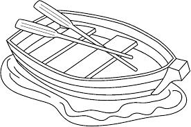 Row Boat Black And White Clipart