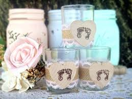 Burlap And Lace Baby Shower Decorations Pink