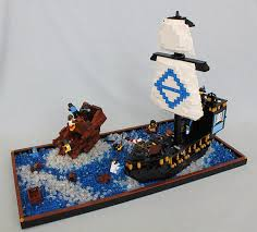 Lego Ship Sinking 2 by Nice Day For A Swim Pirate Mocs Eurobricks Forums