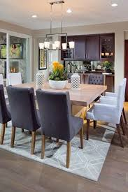 Dining Room Wine Bar Built In Buffet Square Table On