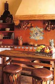 Mexican Style Kitchen With Earthy Reds Terracotta Floor Other Decorative Tile So Cozy