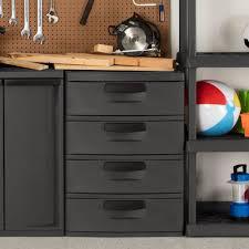 Sterilite 2 Shelf Utility Cabinet by Sterilite 4 Drawer Cabinet Storage Organizer Heavy Duty Plastic