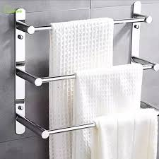 Modern Polished Chrome Towel Bars Bathroom Towel shelf holder 304