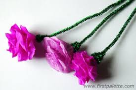 Crepe Paper Rose Craft