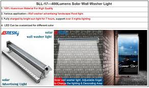 400 lumens solar wall washer light solar advertising light