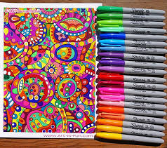 A Coloring Page Done Entirely With Sharpies Learn About My Favorite Supplies Here