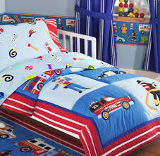 Bedroom: Rescue Heroes Fire Truck Police Car Cotton Toddler/crib ...