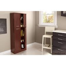 South Shore Axess 4 Door Royal Cherry Food Pantry The