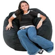 cozy sack 3 bean bag chair medium black
